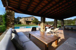 Mas Gall pool cabana
